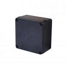 Black IP65 Rated Junction Box - Plastic