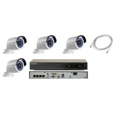 Hikvision 4MP 4 Mini Bullet Camera Complete HD CCTV Kit