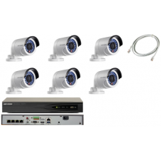 Hikvision 4MP 6 Mini Bullet Camera Complete HD CCTV Kit