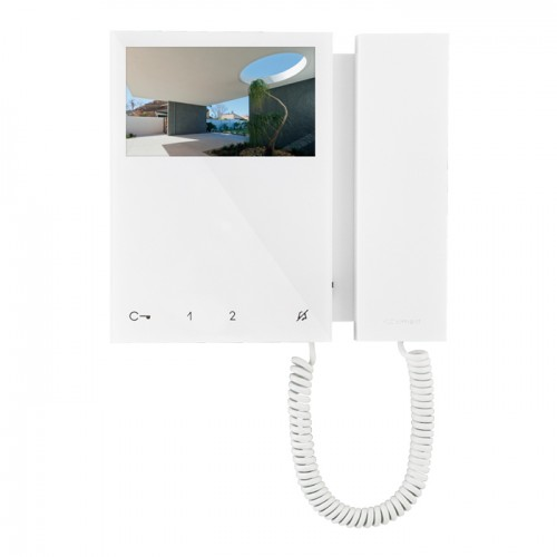 Comelit 6701w Mini Monitor With Handset White Sbtop System
