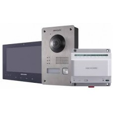 Hikvision 2 Wire IP Video door Intercom Kit including DS-KV8103-IME2/DS-KH8340-TCE2/DS-KAD709
