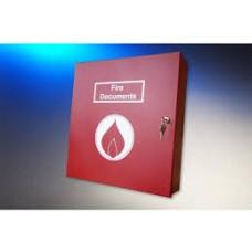 Elmdene LA-DOC-BOX-R-FIRE Lever Arch File Fire Document Box
