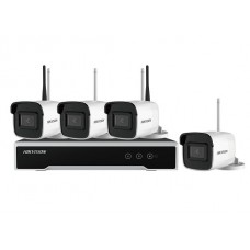 Hikvision NK44W0H-1T(WD) 4 Channel Nvr Complete with 1TB 4MP Bullet Camera Wifi Kit