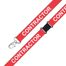 CTS-Direct AC222-CR-RB-RED Lanyard 80cm L 15mm W - Contractor 100 Pack