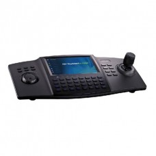 """Hikvision DS-1100KI 12V DC 3 Axis IP Joystick and Keyboard with 7"""" Touchscreen and Audio Out"""
