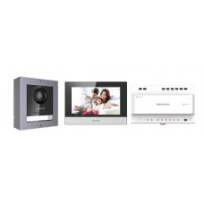 Hikvision DS-KIS702  2 Wire Digital IP Video Intercom Kit for Villa or House, Single Call Button