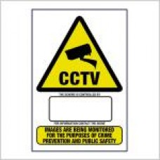 CCTV Warning sign Data protection compliant Size A4 Rigid PVC