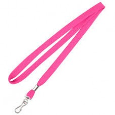 CTS-Direct AC218-PK-MC Breakaway Lanyard 80cm L Metal Clip 10mm W - PINK 100 Pack