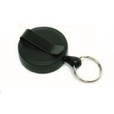 CTS-Direct AC217B-RG-BK Black Yo-Yo Badge Reel Compact, Key Ring Fitting, Retractable 70cm Cord