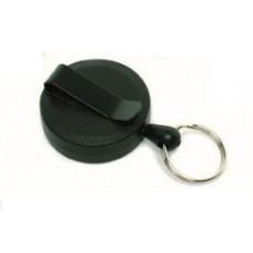 CTS-Direct AC217B-RG-BK Black Yo-Yo Badge Reel Compact, Key Ring Fitting, Retractable 70cm Cord