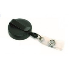 CTS-Direct AC217B-ST-BK Black Yo-Yo Badge Reel Compact, Strap Fitting, Retractable 70cm Cord