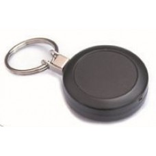CTS-Direct AC217C-RG-BK Yo-Yo Badge Reel METAL, Ring Fitting, Retractable 70cm Cord - BLACK