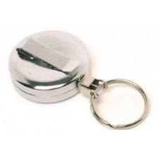 CTS-Direct AC217C-RG-CH Chrome Yo-Yo Badge Reel Metal, Ring Fitting Retractable 70cm Cord