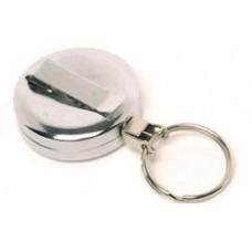 CTS-Direct AC217C-RG-CH Chrome Yo-Yo Badge Reel Metal, Ring Fitting Retractable 70cm Cord