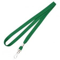 CTS-Direct AC218-GR-MC Breakaway Lanyard 80cm L Metal Clip 10mm W - GREEN 100 Pack