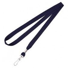CTS-Direct AC218-NB-MC Breakaway Lanyard 80cm L Metal Clip 10mm W - NAVY BLUE 100 Pack