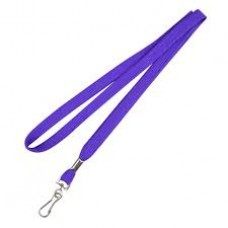CTS-Direct AC218-PU-MC Breakaway Lanyard 80cm L Metal Clip 10mm W - PURPLE 100 Pack