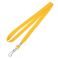 CTS-Direct AC218-YL-MC Breakaway Lanyard 80cm L Metal Clip 10mm W - YELLOW 100 Pack
