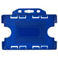 CTS-Direct YA302-L-SB(D) Open Face Double Sided Rigid Badge Holder, Landscape - ROYAL BLUE