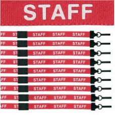 CTS-Direct AC222-SF-RD Lanyard 80cm L 15mm W - Staff 100 Pack