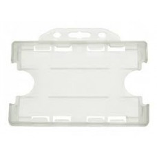 CTS-Direct YA302-L-N(D) Open Face Double Sided Rigid Badge Holder, Landscape - NATURAL CLEAR