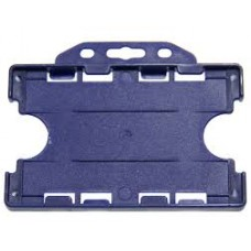 CTS-Direct YA302-L-NB(D) Open Face Double Sided Rigid Badge Holder, Landscape - NAVY BLUE