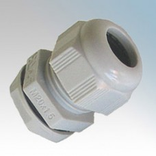 White LSHF PVC Cable Glands 10 Pack c/w Locknuts