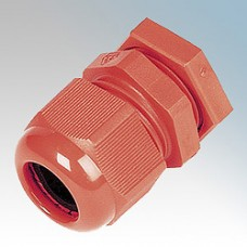 Red LSHF PVC Cable Glands 10 Pack c/w Locknuts