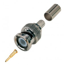 BNC Crimp Plug For RG59/RG62/URM70 Coaxial Cable