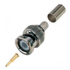 BNC Crimp Plug For RG59/RG62/URM70 Coaxial Cable