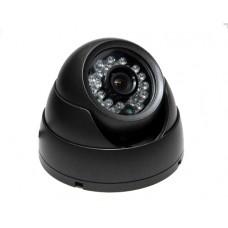 CTSVU Vandal Resistant Eyeball Dome 4-9mm, 600TVL IR LEDs 20M Range 12Vdc. Black