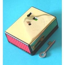 Knights Plastics G1 Single Push Panic Button Latching Brass