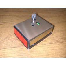 Knights Plastics Single Push Panic Button Latching Stainess Steel