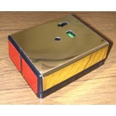 Knights Plastics G2 Double Push Panic Button Latching Brass