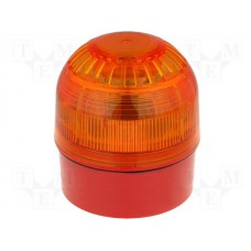 Klaxon Sonos Sounder LED Amber Beacon & Deep Base Red 110/230v